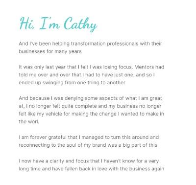 Cathy Bio Column